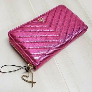 Victoria's Secret Pink Wallet Zip V-Quilt EP14